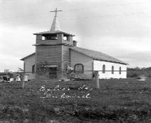 Original Duhamel Roman Catholic Church that opened for mass by Christmas - 1883.